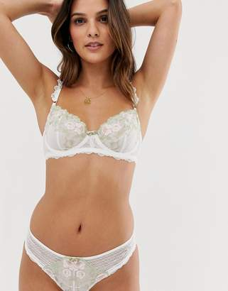 Dorina Trisha floral embroidered brief in ivory