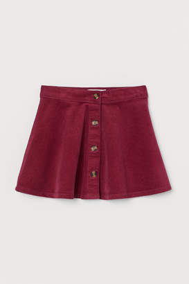 H&M Corduroy Skater Skirt - Red