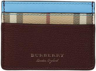 Burberry Haymarket Check Card Holder