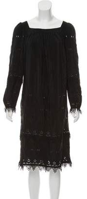 Anna Sui Eyelet Midi Dress