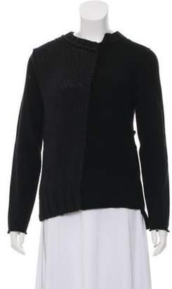 Tess Giberson Knit Asymmetrical Sweater Black Knit Asymmetrical Sweater