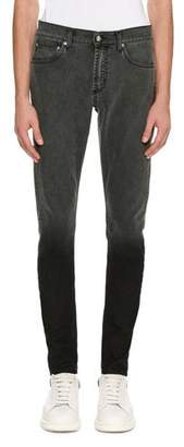 Alexander McQueen Dip-Dyed Skinny Jeans, Gray