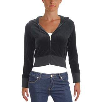 Juicy Couture Black Label Women's Cropped Velour Jacket with Gothic Logo