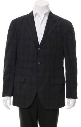Brunello Cucinelli Plaid Three-Button Blazer