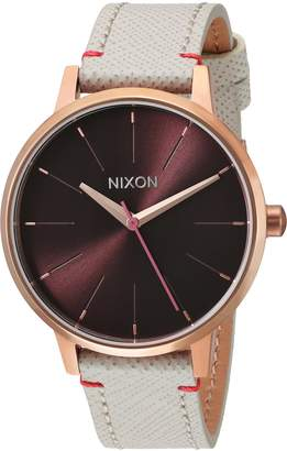 Nixon Women's 'Kensington Leather' Quartz Stainless Steel Casual Watch, Color:Champagne (Model: A1081890-00)