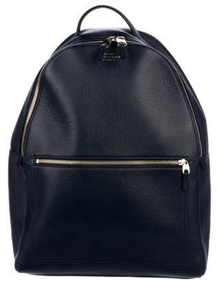 Smythson Pebbled Leather Backpack