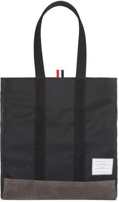 Thom Browne Unstructured Logo Tote Bag