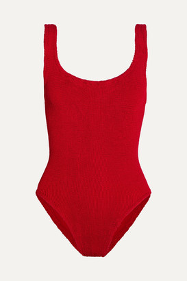 Hunza G - Seersucker Swimsuit - Red