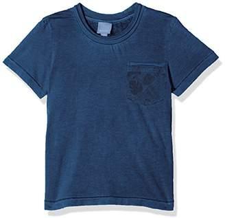 Bench Boy's OVERDYED TEE Regular Fit T-Shirt, Blau (Dusky Blue BL041), (Manufacturer Size: 140)
