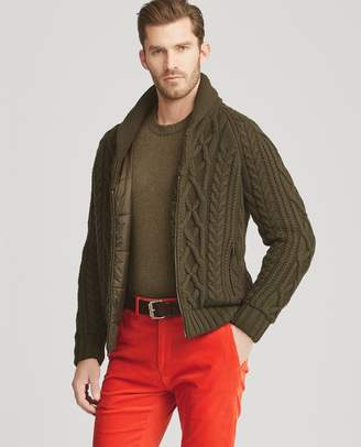 Ralph Lauren RLX Cable-Knit Hybrid Jacket