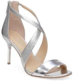 Vince Camuto Imagine Pascal2 Cross-Strap Tumbled Metallic Leather Sandals