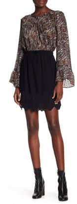 IRO Solid Knit Trim Skirt