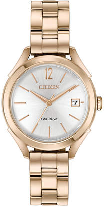 Citizen Drive From Eco-Drive Women's Rose Gold-Tone Stainless Steel Bracelet Watch 34mm