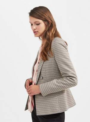 Miss Selfridge Checked faux double breasted blazer
