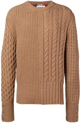 Thom Browne chunky cable-knit jumper