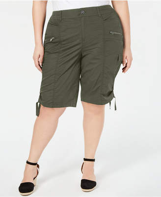 Style&Co. Style & Co Plus Size Cargo Bermuda Shorts