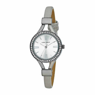 Laura Ashley Womens Gray Strap Watch-La31025gn $295 thestylecure.com