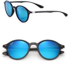 Ray-Ban 50MM Round Mirrored Nylon Sunglasses