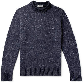 Inis Meáin Donegal Merino Wool And Cashmere-Blend Mock-Neck Sweater