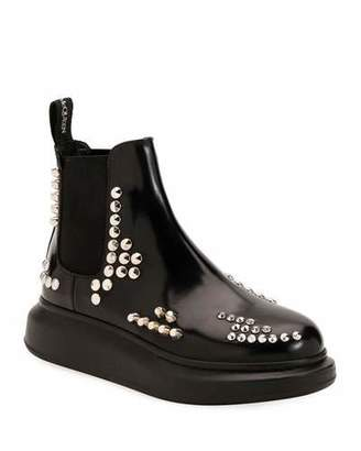 Alexander McQueen Studded Leather Platform Boots