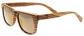 Earth Wood Hampton Polarized Wayfarer Sunglasses