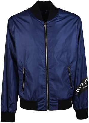 Dolce & Gabbana Logo Print Bomber Jacket