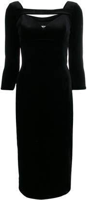 Chiara Boni Le Petite Robe Di velvet sweetheart dress
