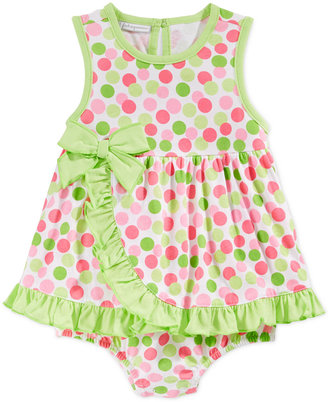 First Impressions Baby Girls' Dot & Ruffle Sunsuit, Only at Macy's $18 thestylecure.com
