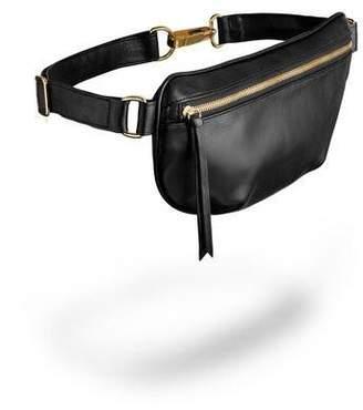 Ames Tovern Leather Hip Bag Black