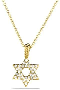 David Yurman Cable Collectibles Star Of David Necklace With Diamonds