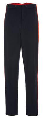 Joseph Annam Striped Wool And Cashmere-Blend Straight-Leg Pants