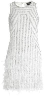 Parker Black Black Women's Allegra Embellished Mini Dress - Ivory - Size 0