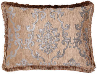 Isabella Collection by Kathy Fielder King Grace Damask Sham with Fringe