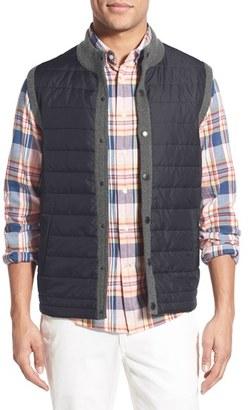 Men's Barbour 'Essential' Tailored Fit Mixed Media Vest $149 thestylecure.com