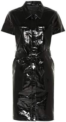 J Brand Lucille patent leather shirt dress