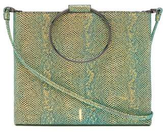 THACKER Le Pouch Snake Print Leather Crossbody