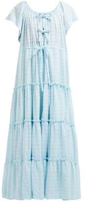 Innika Choo Alotta Gud Tiered Maxi Dress - Womens - Light Blue