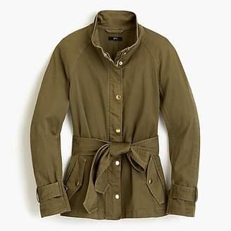 J.Crew Petite tie-waist cotton jacket