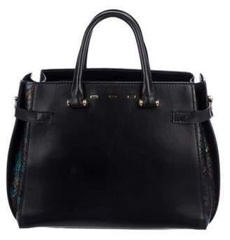 VBH Python & Leather Boulevard Bag