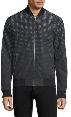 Michael Kors Ombre Gingham Bomber Jacket