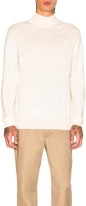 Maison Margiela Gauge 14 Crewneck with Elbow Patches in Off White | FWRD