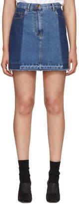 McQ Indigo Denim Miniskirt