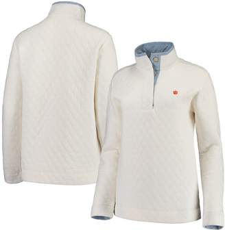 Unbranded Women's Sail Racing White Clemson Tigers Southern Tide Quilted Four-Button Pullover Jacket