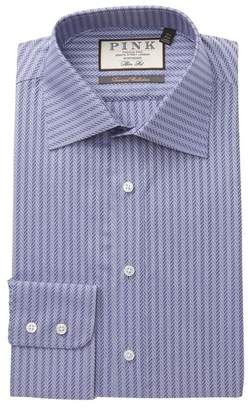 Thomas Pink Ackerman Textured Slim Fit Dress Shirt