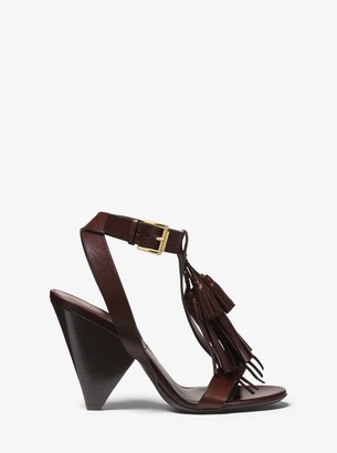 Michael Kors Rumi Tassel Leather Sandal