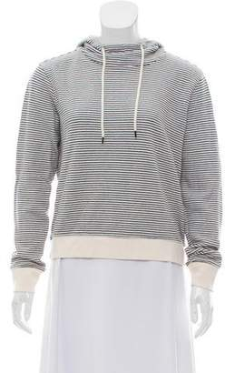 ATM Anthony Thomas Melillo Hooded Striped Sweater
