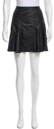 Renvy Perforated Vegan Leather Skirt