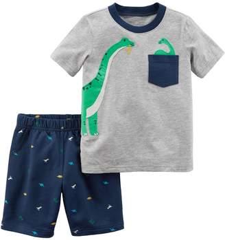 Carter's Baby Boy Dinosaur Tee & Shorts