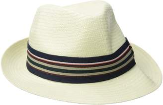 Scala Men's Toyo Fedora with Stripe Ribbon