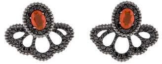 Carla Amorim 18K Fire Opal & Black Diamond Earrings